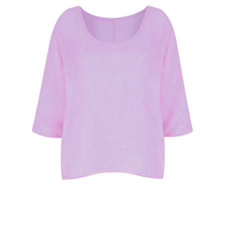 TOC  Billie Linen Easy Fit Top - Purple