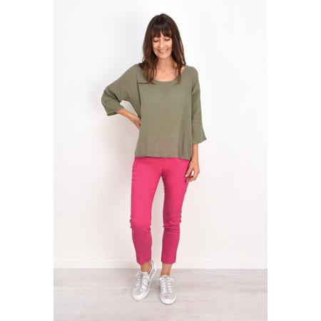 Robell Trousers Rose 09 Jacquard Slimfit 7/8 Trouser - Pink