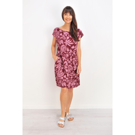 TOC  Dahlia Printed Linen Dress - Red