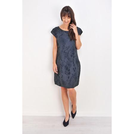 TOC  Daisy Printed Linen Dress  - Blue