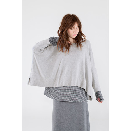 Mama B Oversized Siena Knit Jumper - Silver