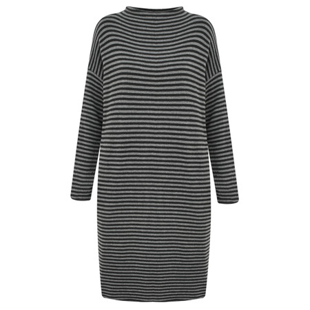 Mama B Bilbao Stripe Midi Knit Dress - Grey