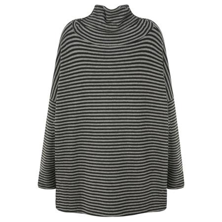 Mama B Bill Roll Neck Knit Top - Grey