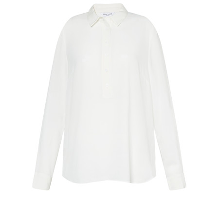 Great Plains Silk Mix Collared Blouse - White