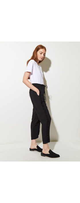 Great Plains Frill Leg Trousers Black