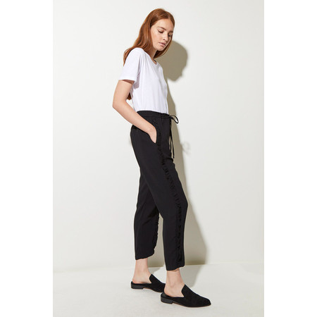 Great Plains Frill Leg Trousers - Black