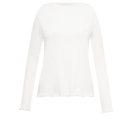 Great Plains Fitted Rib Top - Off-White