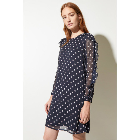 Great Plains Dot Mix Dress - Blue