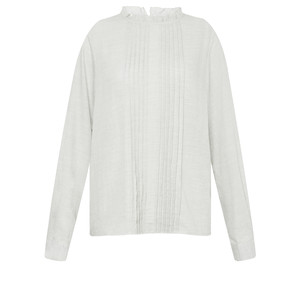 Great Plains Cotton Frill Neck Blouse