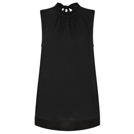 French Connection Crepe Light Jersey Top - Black