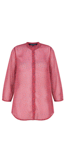 French Connection Aubine Crinkle Shirt Mischief Pink