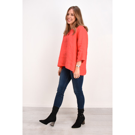 Fenella  Aria EasyFit Boxy Linen Top - Orange