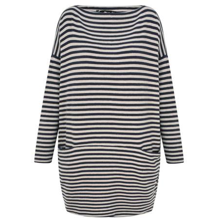 Mama B Oversized Gijon Stripe Knit Top - Blue