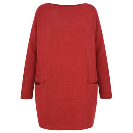 Mama B Oversized Gijon Plain Knit Top - Red
