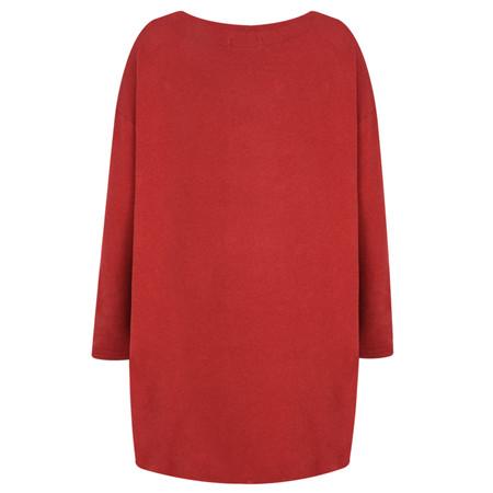 Mama B Gijon Plain Knit Top - Red