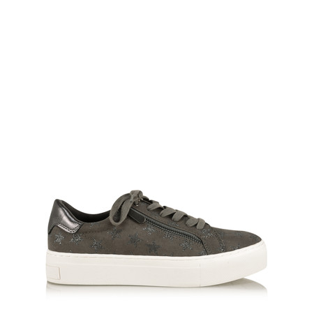 Marco Tozzi Erika Star Trainer Shoe - Grey