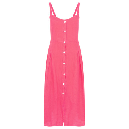 TOC  Cammie Linen Easy Fit Dress  - Pink