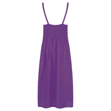 TOC  Cammie Linen Easy Fit Dress  - Purple