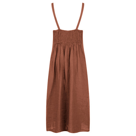 TOC  Cammie Linen Easy Fit Dress  - Brown