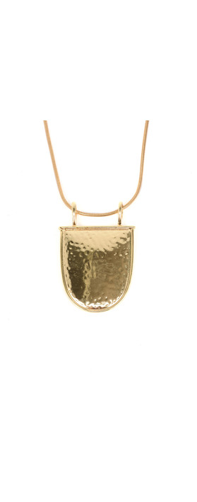 Tutti&Co Shield Necklace Gold