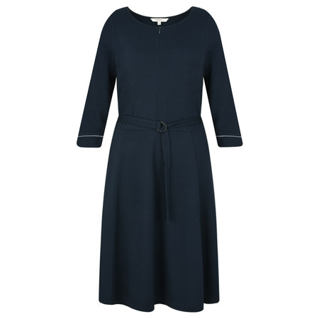 Sandwich Clothing Fit and Flare Dobby Dress - Blue