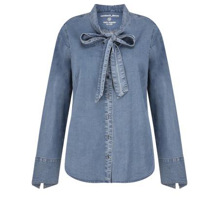 Sandwich Clothing Bow Tie Denim Shirt - Blue
