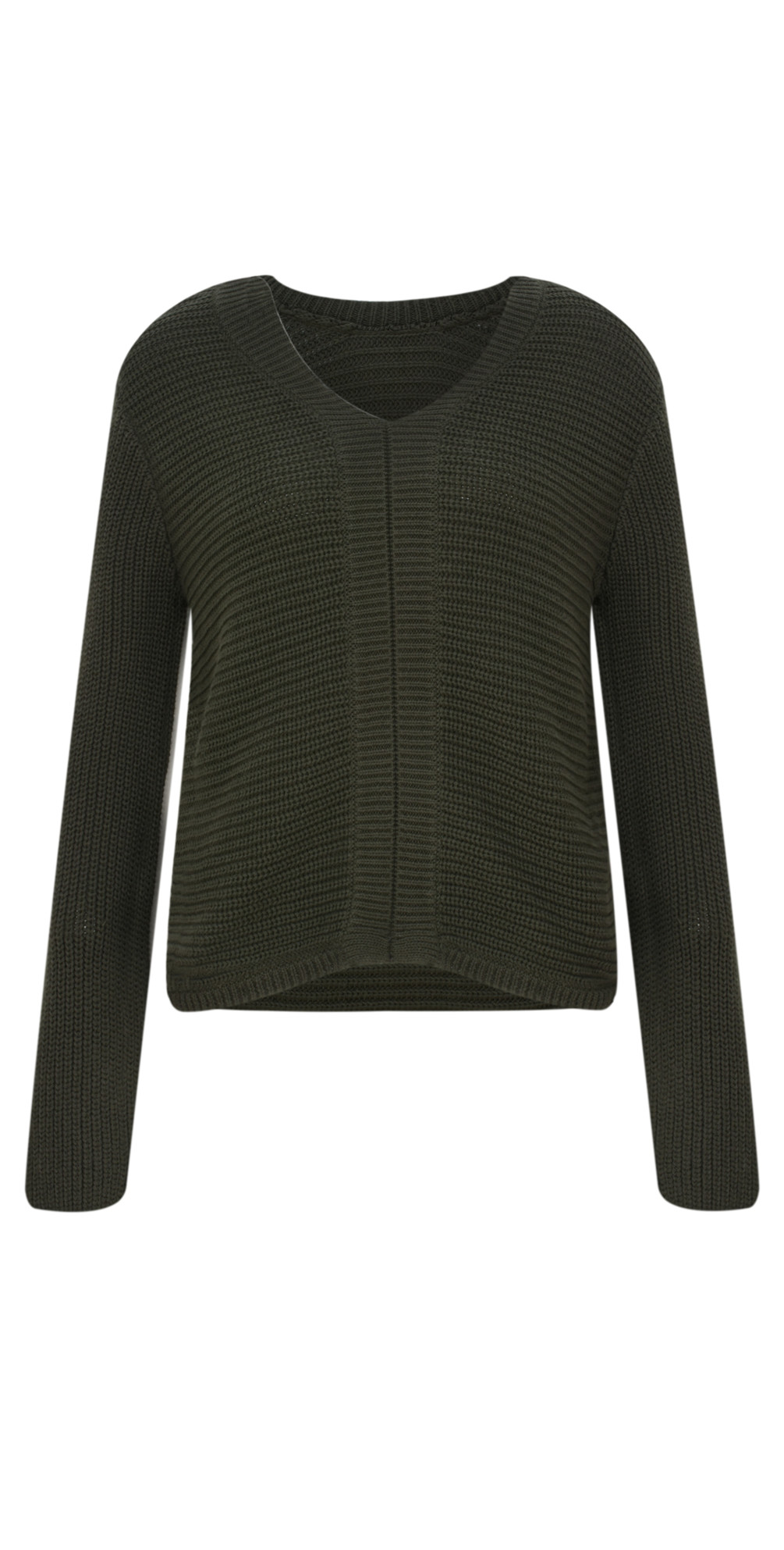 0cffcaf5385c1 Sandwich Clothing Two Way Chunky Knit Jumper in Dark Olive