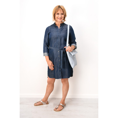 Sandwich Clothing Denim Tie Waist Dress - Blue