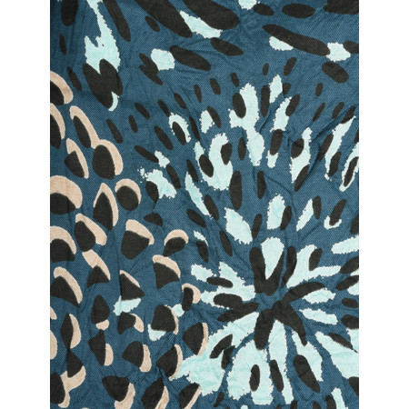 Masai Clothing Along Contemporary Floral Print Scarf - Blue