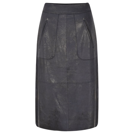 Sandwich Clothing Waxy Leather Skirt - Blue