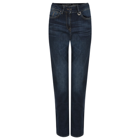 Sandwich Clothing Stretch Denim Jean with Stripe - Blue