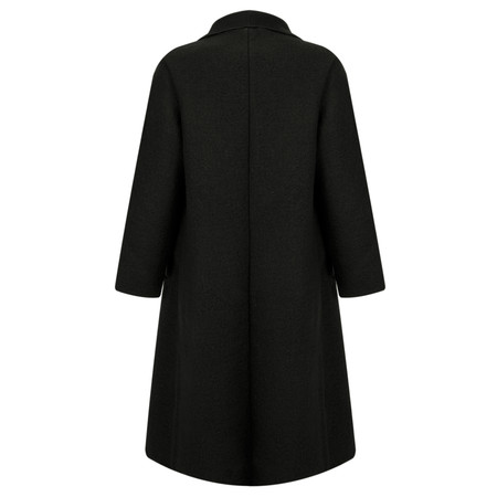Thing Felt Waterfall Coat - Black