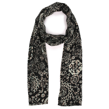 Masai Clothing Along Paisley Style Print Scarf - Blue