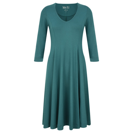 Myti by Myrine Jersey Crepe Alice Dress - Blue