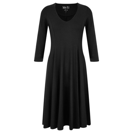 Myti by Myrine Jersey Crepe Alice Dress - Black