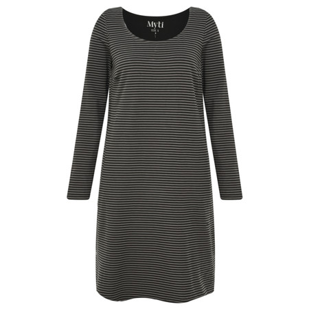 Myti by Myrine Striped Jersey Soul Tunic Dress - Black