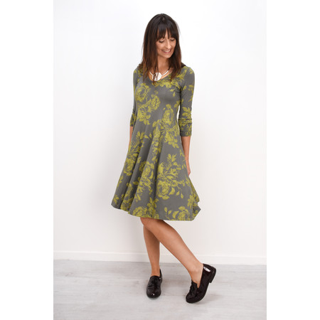 Myti by Myrine Flower Print Jersey Cooper Dress - Green