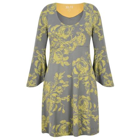 Myti by Myrine Flower Print Jersey Conga Tunic - Green