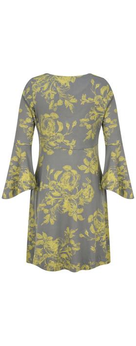 Myti by Myrine Flower Print Jersey Conga Tunic 4A- Fennel
