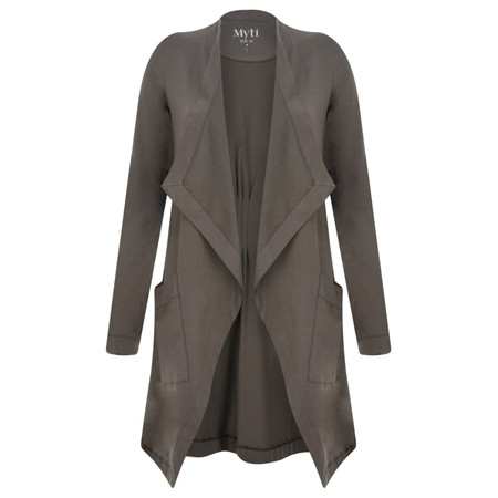 Myti by Myrine Jersey Waterfall Rondo Cardigan - Grey
