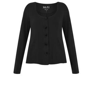 Myrine Velvet Button Jersey Cardigan