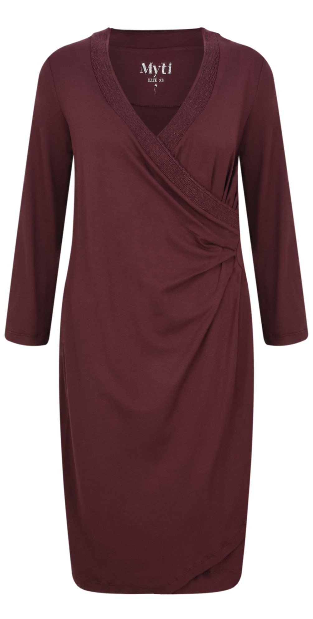 Ruched Side Jersey Crepe Dress main image