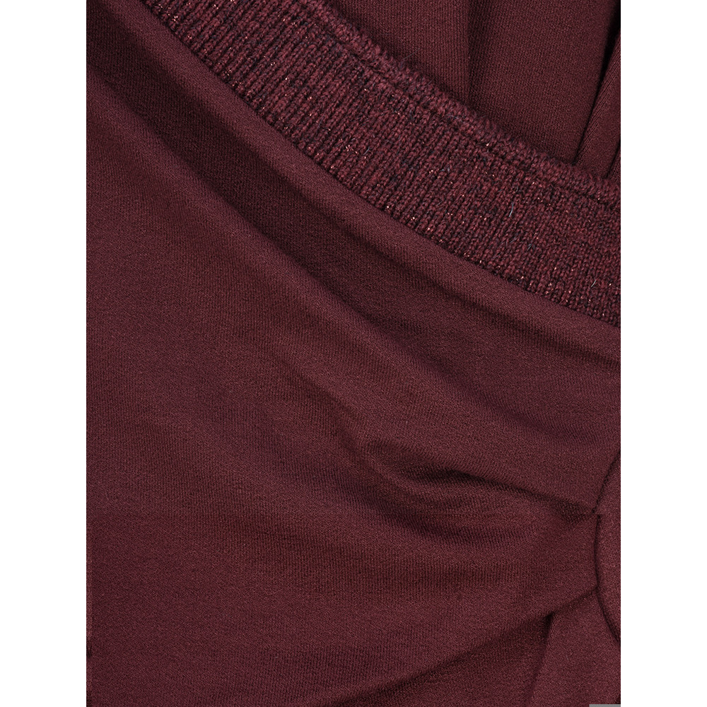 Myti by Myrine Ruched Side Jersey Crepe Dress 3A-Wine Red