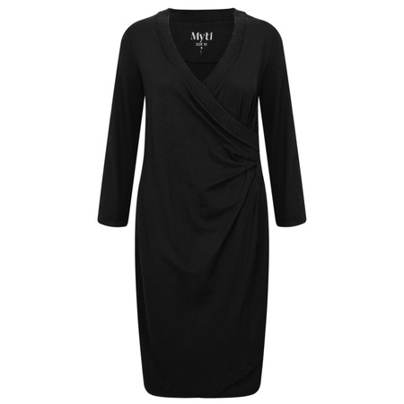 Myti by Myrine Ruched Side Jersey Crepe Dress - Black