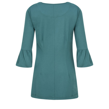 Myti by Myrine Jersey Crepe Bell Sleeve Top - Blue