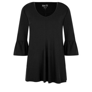 Myti by Myrine Jersey Crepe Bell Sleeve Top