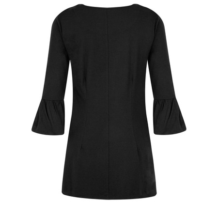 Myti by Myrine Jersey Crepe Bell Sleeve Top - Black