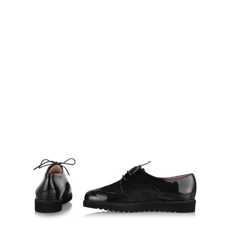 Gemini Label  Bugui Brogue Brothel Creeper  - Black