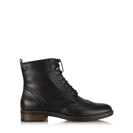 Tamaris  Hazel Lace Up Ankle Boot - Black