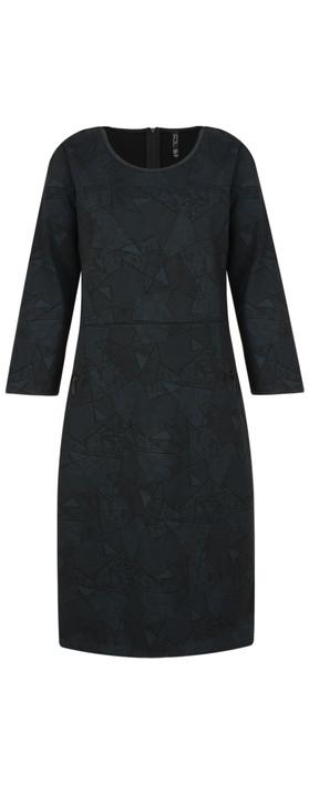 Foil Jersey Zips Dress  Linear